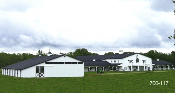 quine horse barn and arena