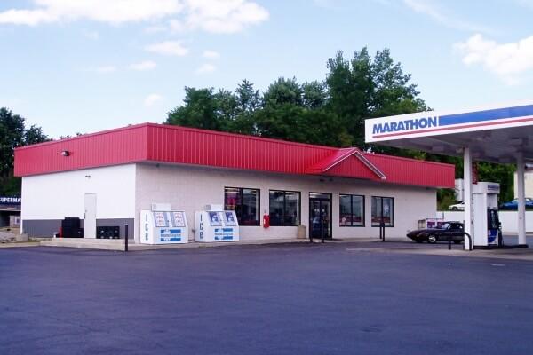pole building gas station convenience store