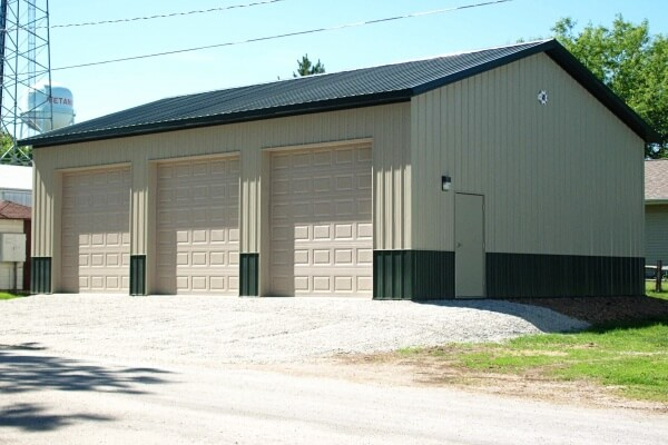 post frame commercial truck storage